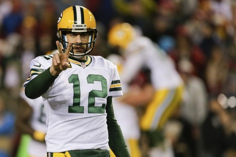 Rodgers threw two touchdowns in the first half before the Packers switched to the running game.