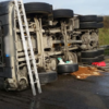 Major delays on the M50 after cement lorry overturns