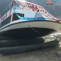 Watch: Luxury yacht sinks... immediately after being launched