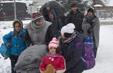 Braving the snow in hope of a better life: 'Nothing can stop them'