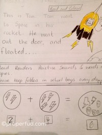 A Dublin Senior Infants teacher gave the perfect David Bowie-themed homework last night