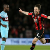 Harry Arter scores first Premier League goal with low drive against West Ham
