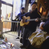 Glen Hansard played Ashes to Ashes for fans outside David Bowie's New York home