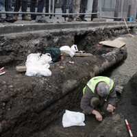 Second skeleton found under Dublin street... this time a child's remains