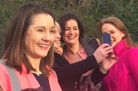 Anne-Marie Demody launching her campaign with other Fine Gael candidates, Kate O'Connell and Catherine Noone, today.