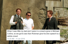 This Alan Rickman story from the set of Michael Collins is just so Irish