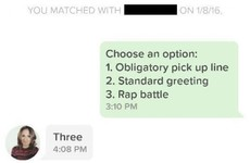 Here's how one guy's opening offer on Tinder sparked an epic rap battle