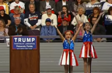 Donald Trump's child cheerleaders cheering for American freedom is really something
