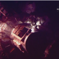 Today's first ever spacewalk by a British astronaut was cut short