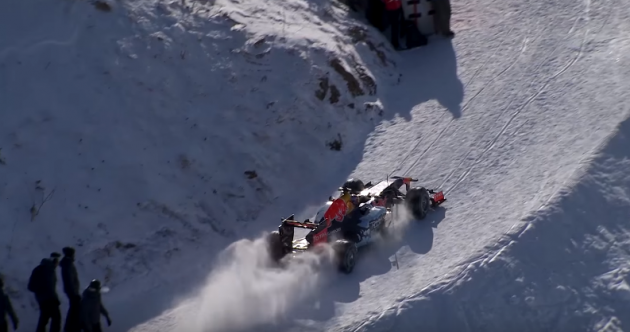 An 18-year-old F1 driver drove his €2.7 million race car down a ski slope