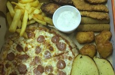 This Tyrone takeaway just came up with a pizza version of the munchy box