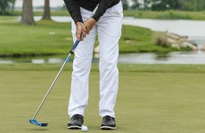 Tim Clark is using this strange looking putter to get around golf's new rule