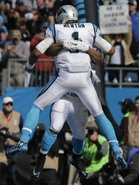Cam Newton and the Carolina Panthers are giving Seattle an unmerciful hiding