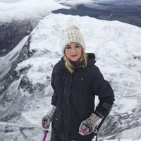 This cancer survivor just climbed Ireland's snowiest mountain - on crutches