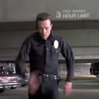 A man in his boxers has pulled off some Hollywood heroics to stop a car thief
