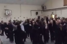 A Dublin school's early morning Maniac 2000 rave is going viral on Facebook