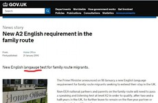 The UK's immigration service made an extremely unfortunate typo