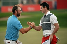 This superb putt secured third place for Rory McIlroy in Abu Dhabi