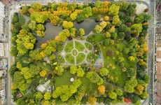 Stephen's Green looks pretty cool from the air in this stunning viral drone photo