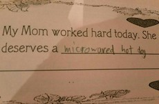 This little kid knows exactly how to show appreciation for their mam