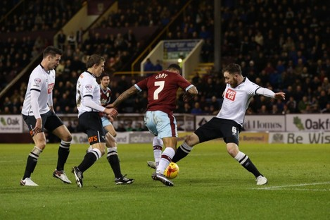 Keogh tripped Andre Gray to concede the first of two penalties.