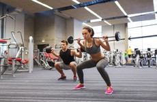 Squats and bicep curls - it's week 2 of our gym training programme