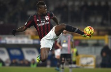 Mario Balotelli scores a rare goal for Milan in the Coppa Italia