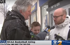 The most embarrassing dad ever trolled his son during a snowstorm report