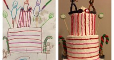 This baker made a cake exactly how a 6-year-old drew it