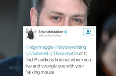 Brian McFadden's Twitter threatened to 'strangle' someone who mocked his career