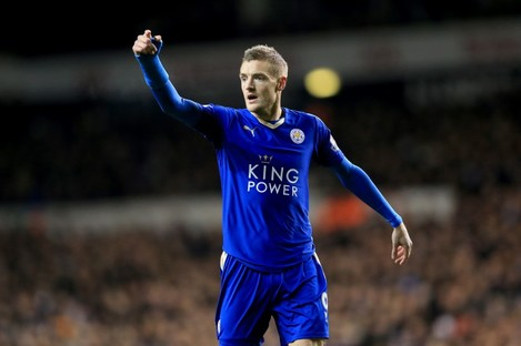 Jamie Vardy's goals have helped propel Leicester to the top of the Premier League