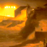 WATCH:  Powerful storm waves batter the promenade at Lahinch