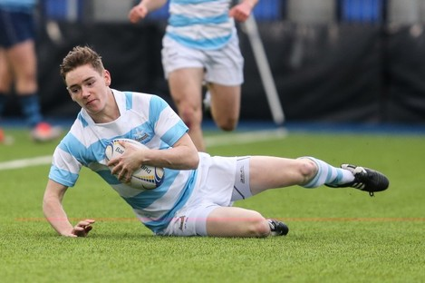 Conor Kelly scored one of Blackrock's seven tries.
