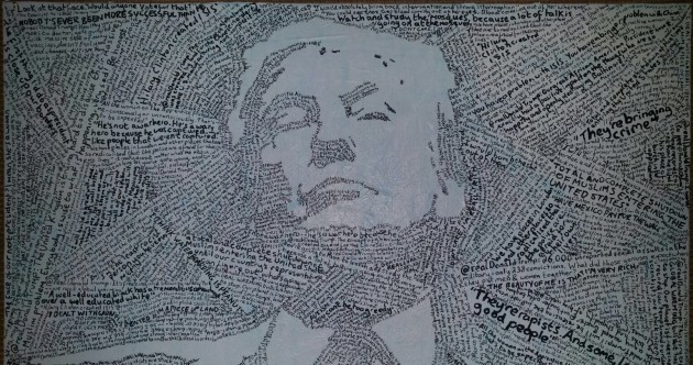 This portrait of Trump is made entirely out of the presidential candidate's offensive comments