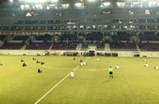 Greek footballers stage remarkable protest over migrant deaths with pitch sit-in
