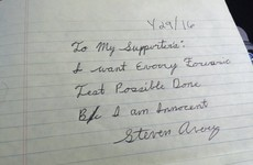 Making a Murderer's Steven Avery has sent a personal note to his supporters from prison