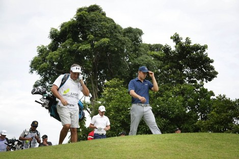Spieth: weather disrupted his final round in Singapore (file photo).