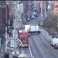 Road closure on Dublin's south quay after pedestrian hit by truck