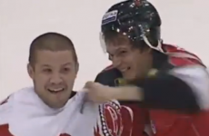 WATCH: An ice hockey player laugh off punches to the head