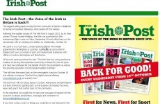 Irish Post returns to newsstands in Britain