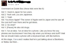 This story about two kids chatting on a Dublin bus will make you feel super old