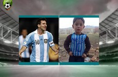 The little boy with the plastic jersey has been found, and now he's set to meet his hero
