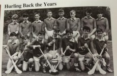 Liam Neeson's school just shared an old photo of him on the hurling team