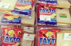 Some legends are serving Tayto sandwich packs at their weddings