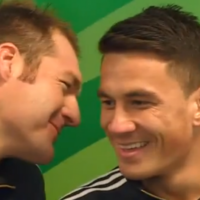 WATCH: Ali and Sonny Bill wind the press corps up