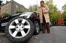 Dana back on the road as gardaí investigate tyre blowout