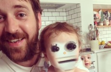 When this dad tried to do an adorable face swap with his baby it didn't go well