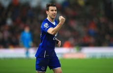 Seamus Coleman paid tribute to his newborn child after scoring today