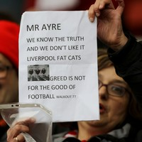 'You greedy b***ards, enough is enough!' Angry Liverpool fans stage walkout protest