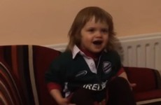 This two-year-old girl singing Ireland's Call is the hero we need right now